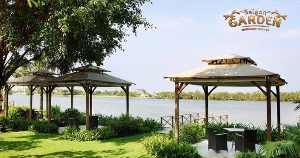 Sài Gòn Riverside Village, nhà vườn long phước