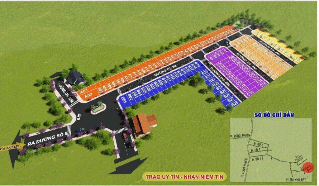 Dự án Blue Diamond Riverside tại quận 9 , đất vườn - mua bán – ký gửi - đất nền Long Phước diễn ra khá rầm rộ , dự án Long Phước 1234